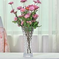 包邮欧式水晶透明玻璃花瓶插富贵竹百合创意简约家居装饰花器摆件
