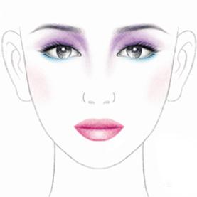 化妆长型脸练习图、彩妆模板、纸妆练习图、素描纸妆美人图