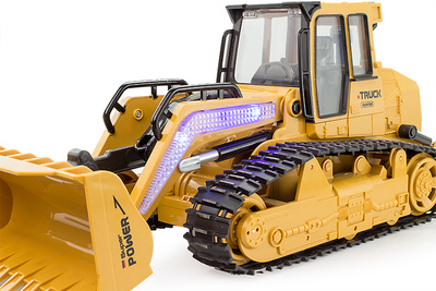 Two sets of rechargeable batteries oversized remote crawler bulldozer bulldozers forklift truck electric toy car remote control car with charger