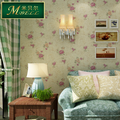 Mi Beier pvc waterproof wallpaper bedroom living room wallpaper shop for vintage American country Tian Yuanqing new environmental