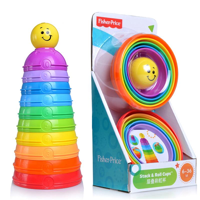 【天猫超市】费雪婴幼儿层叠彩虹杯儿童叠叠乐宝宝益智玩具K7166