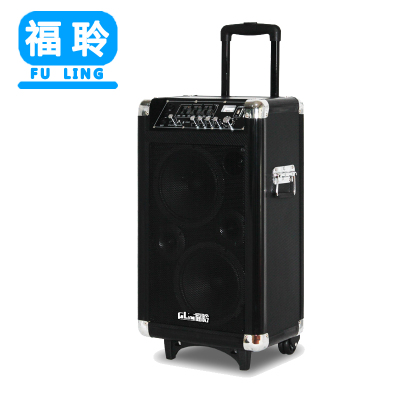 Fu Ling mobile battery trolley stereo speakers outdoor stereo audio power USB dual 8-inch square dance