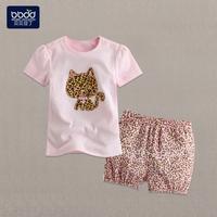 婴幼儿夏装 女韩版1-2-3岁纯棉女童套装休闲夏款套头宝宝婴儿套装