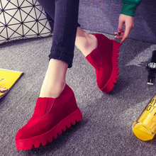 The new age season 2015 han edition tide increased leisure platform shoes women in love lazy large base shoe women's shoes