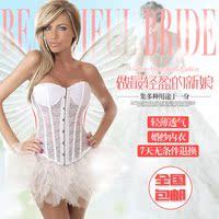 新娘婚纱塑身衣上衣产后束腰带收腹带夏季超薄透气宫廷束身美体衣