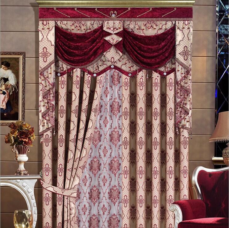 欧式绣花窗帘 豪华客厅现代中式高档卧室成品纱帘 批发定制zs1318图片