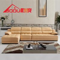 柏度 进口头层中厚牛皮 真皮沙发 客厅时尚转角大小户型皮艺沙发