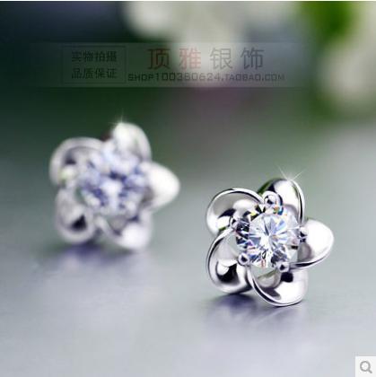 Гвоздики Грибок ногтей 925 стерлингового серебра женщин серьги аутентичные Корейский темперамент корейских женщин Серьги Серьги специальные почтовые