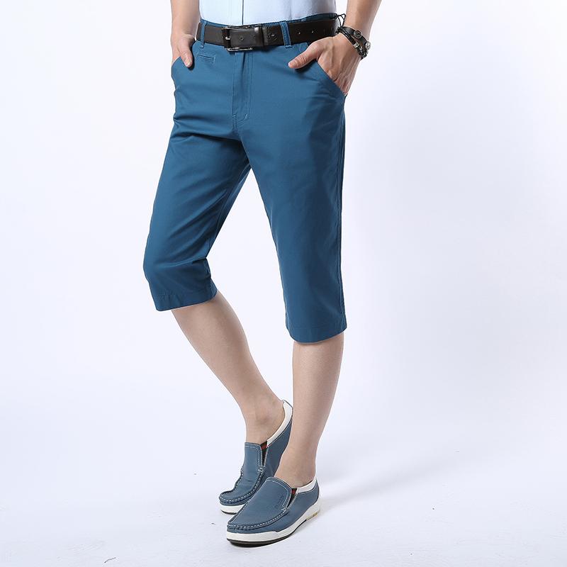 【天天特价】夏季新款男装短裤男士休闲七分裤中裤 薄款修身马裤