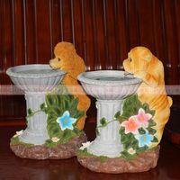 欧式桌面小狗流水喷泉台式装饰品摆件家居客厅装饰品水景雕塑