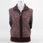 秋装中老年羊毛衫女开衫妈妈装冬装毛衣外套奶奶装针织衫羊绒