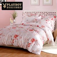 花花公子家纺床上用品香榭之吻天丝提花奢华四件套床品床单被套件