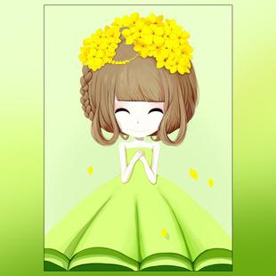 蒙娜丽莎印花十字绣花姑娘简单学生小幅可爱儿童卡通卧室系列