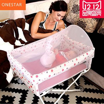 便携式新生儿婴儿床可折叠旅行宝宝床小床bb床 迷你小尺寸简易床