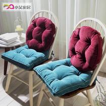 纯色灯芯绒加厚椅垫学生布艺坐垫靠背白领办公室靠垫简约胖子座垫