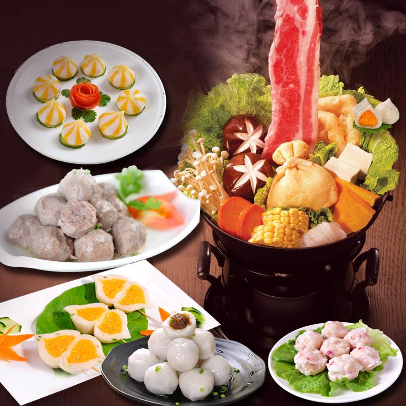 【5种口味】家庭火锅丸子套餐 海鲜豆捞火锅食材团购尝鲜套餐6袋