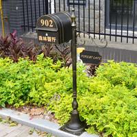 欧式铁艺别墅信报箱,报纸邮筒,婚礼婚庆道具,室外防雨邮箱直销