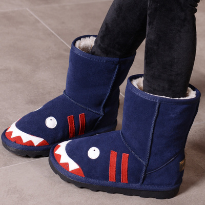 Children's shoes 2014 new winter plus thick velvet winter boots girls big virgin child padded boots cartoon child boots