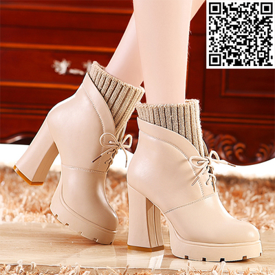 Mo Lei Lei Kou England 2014 new autumn and winter fashion boots thick with high-heeled boots Duantong Martin boots women