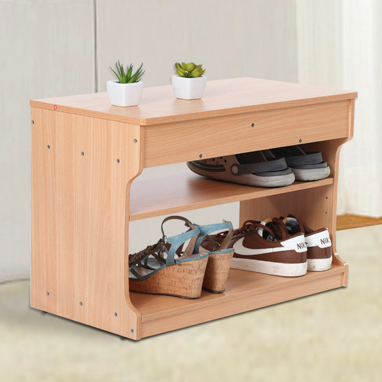 Log Shipping Shoes Stool Hall Bench Covered Storage Stool