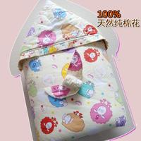 婴儿抱被包被新生儿手工纯棉花秋冬款加厚宝宝抱毯可脱胆睡袋包邮