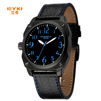 Archer male table genuine leather belt waterproof watch male Korean student fashion luminous quartz watch men's sports and leisure