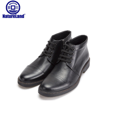Royal Pro men's winter boots, leather and cashmere leather boots snow boots Korean cotton men's business shoes Martin boots