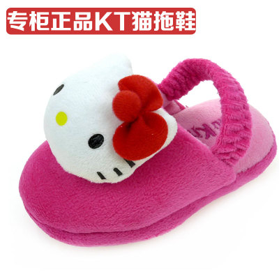 2014 Genuine hellokitty new female baby girls winter home cotton slippers warm slippers slip floor
