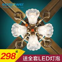 美式餐厅风扇灯吊扇灯客厅电扇灯欧式带风扇的吊灯家用卧室吊扇灯