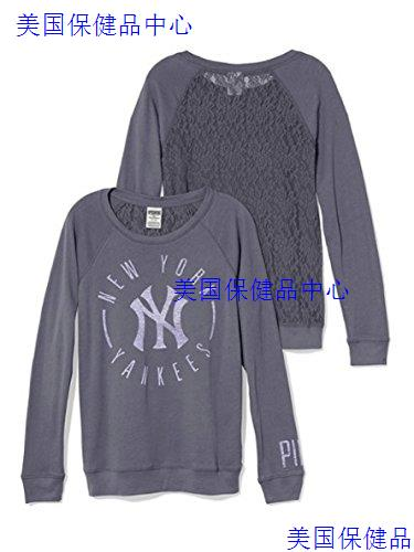 Victoria's Secret PINK New York Yankees Lace Back Long S