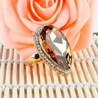 新光饰品奥地利水晶欧美夸张个性钻戒仿真戒指韩版时尚指环女礼物