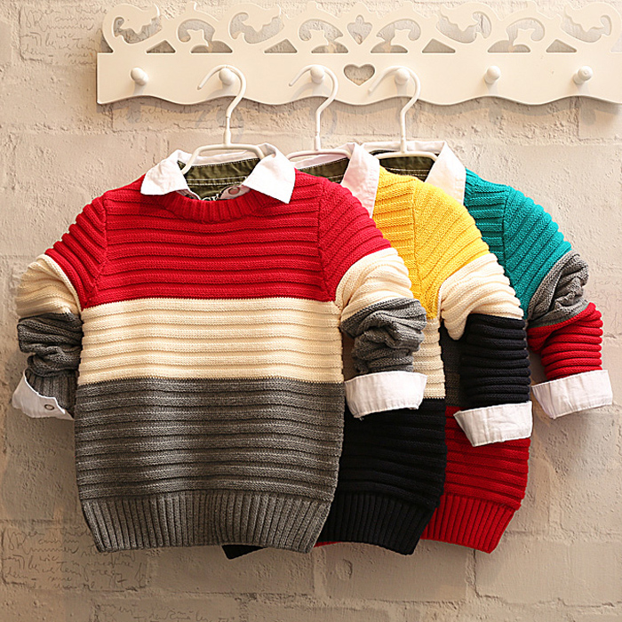 Kids 2015 fall and winter clothes new baby boy sweater sweater bottoming shirt cotton children's clothing hedging tide