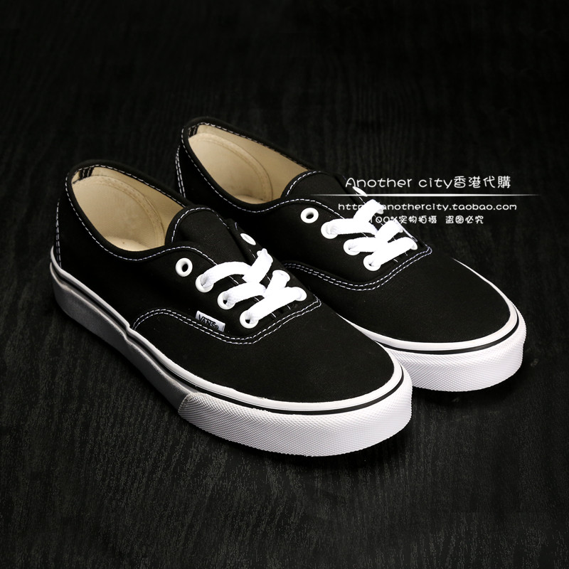 正品代購VANS AUTHENTIC 经典黑白男鞋 女鞋情侣帆布鞋VN-0EE3BLK