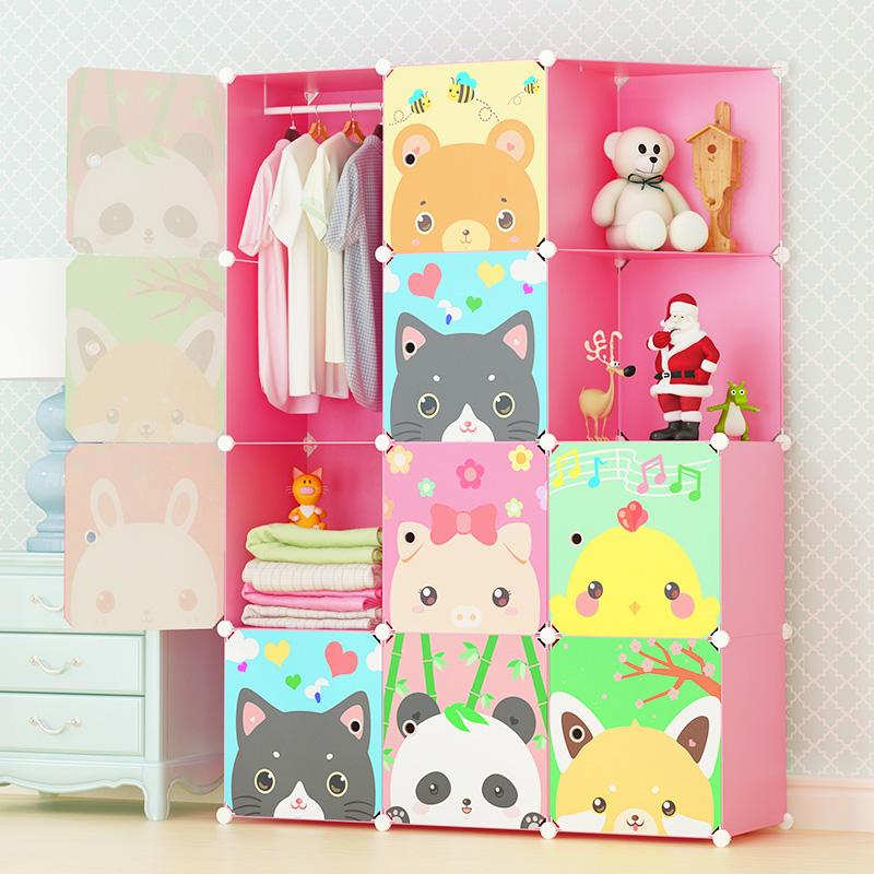 简易衣柜卡通儿童宝宝婴儿多功能卧室