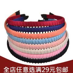 韩国碎花绢纱带齿密齿发梳插梳刘海梳波浪发夹发箍压发夹