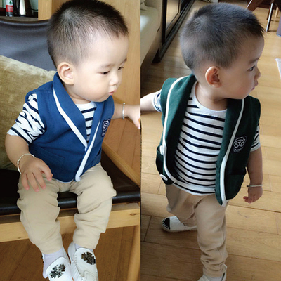 Children's wear children three suits bearing bush 1-5 years old in the city boy baby child long suit baby young virgin suit