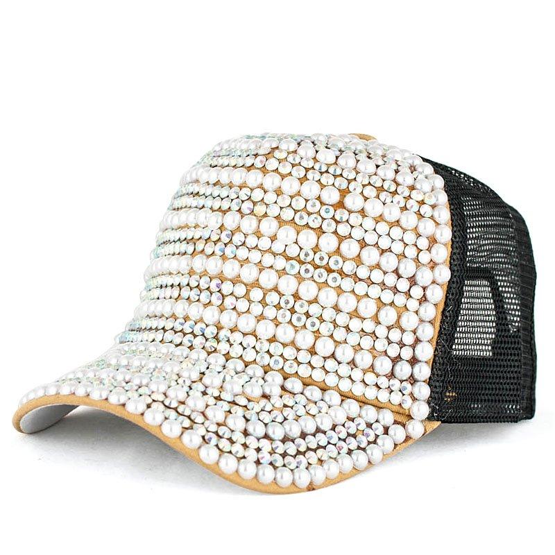 Должность летом красивые перламутр diamond дамы бейсбол крышка Шляпа эксклюзивная улица танец объем экран Шапки