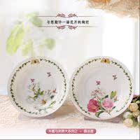 出口韩国骨瓷特价促销田园餐具料碟醋碟汤盘子/可微波