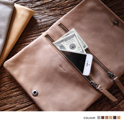 MINIMALISM minimalist Italian leather wallet leather handbag folding clasp female ML9A052