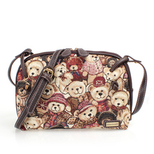 Danny bieber David Danny bear bag canvas bags Portable one shoulder inclined shoulder bag