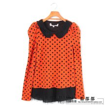 Winter clothing Colchicine counters authentic orange wave point lady cute casual ladies' sweater bulk number 7139
