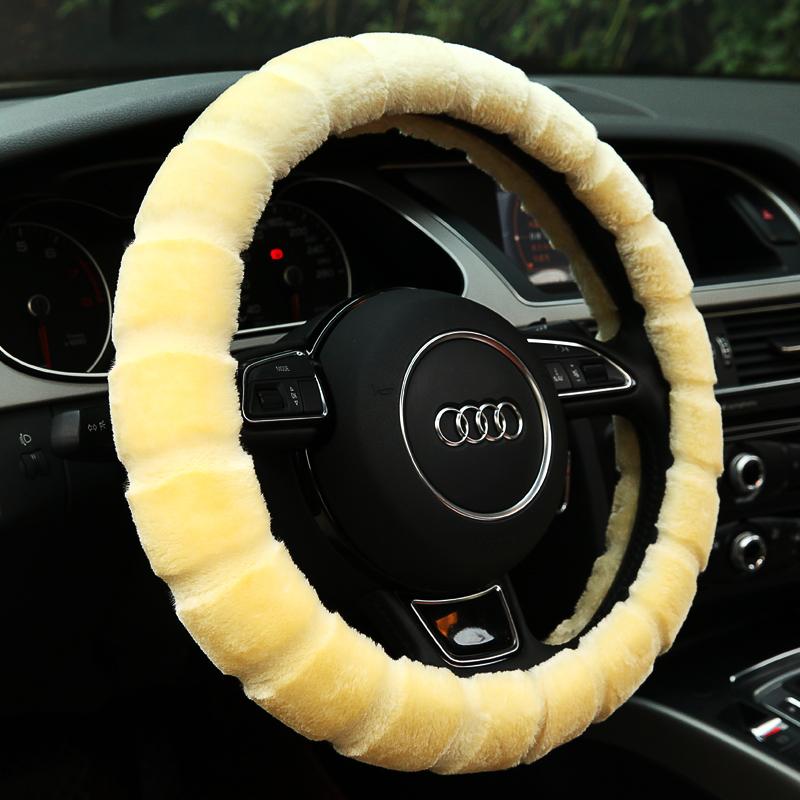 汽车冬季毛绒新福克斯克鲁兹赛欧大众宝来朗逸长城H6方向盘套把套