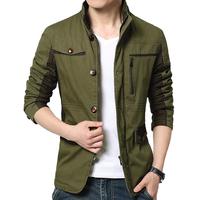 夹克男青年秋冬季大码韩版薄款中长款商务休闲外套修身潮加绒加厚