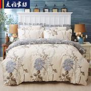 夹棉床罩床上四件套 全棉加棉加厚床裙式 纯棉床笠1.5 1.8米床单