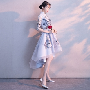 小晚礼服少女2018宴会聚会优雅派对小礼服公主短款甜美连衣裙
