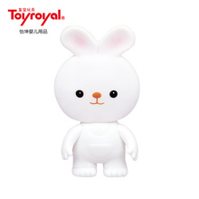 Toyroyal royal toys Soft glue the small white rabbit Water bath water