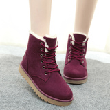 Winter winter Korean student flat winter shoes cotton padded shoes boots snow boots thick bottom rubber sole boots