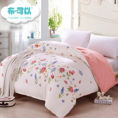 1.5 m single piece of pink cotton quilt cotton fabric quilt small fresh white floral double