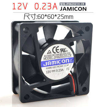 台湾 jamicon 12V 0.23A JF0625S1H-CR 6025 6CM变频器静音风扇