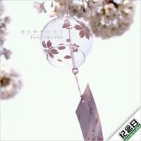 一个包邮清风堂正品日式江户玻璃风铃樱花谣礼物挂饰